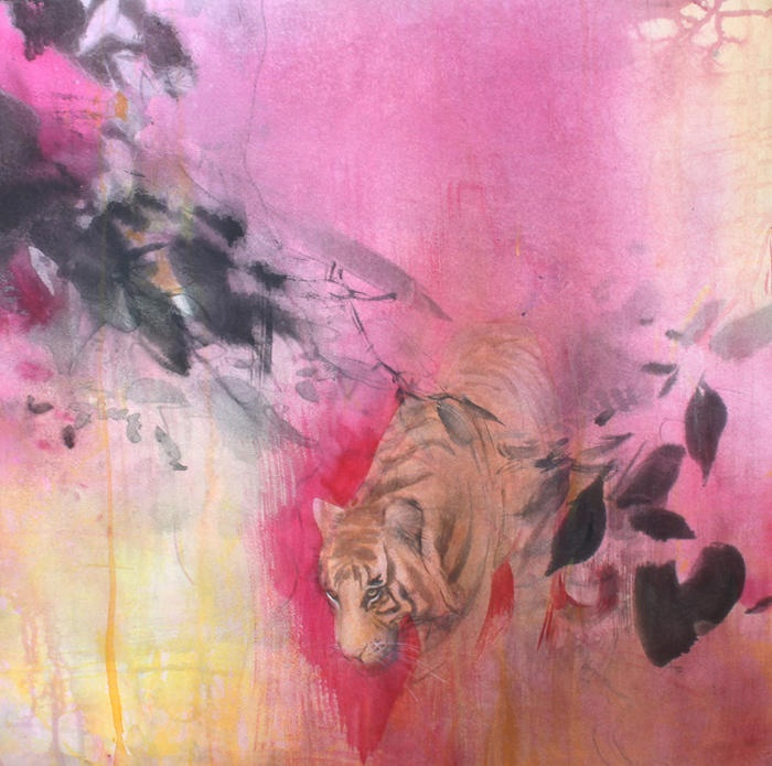From the Forest, Watercolour, Indian Tigerlands - The Scottish Gallery, Edinburgh - Contemporary Art Since 1842