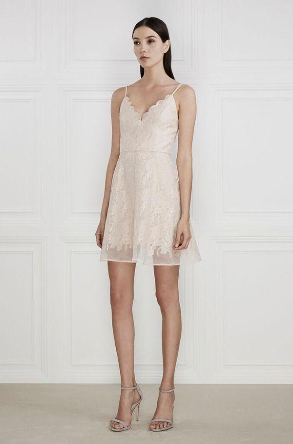 Keepsake - Sundream Lace Mini Dress - Shell