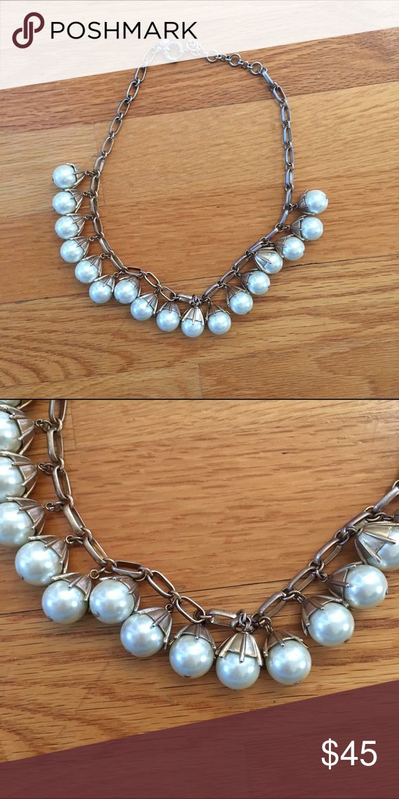 J CREW. Large Pearl Necklace J CREW. Large Pearl Necklace. Perfect condition! Great for business casual or preppy outfits! Hard to find elsewhere! J. Crew Jewelry Necklaces