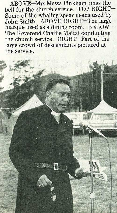 The Reverend Charlie Maitai conducting the church service. - Gisborne Photo News - No 227 May 23, 1973