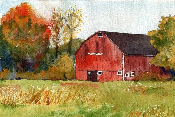 51 best ideas about window painting on pinterest paint for Watercolor barn paintings