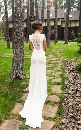 The 25 best lace back wedding dress ideas on pinterest budget lace back wedding dress junglespirit Choice Image