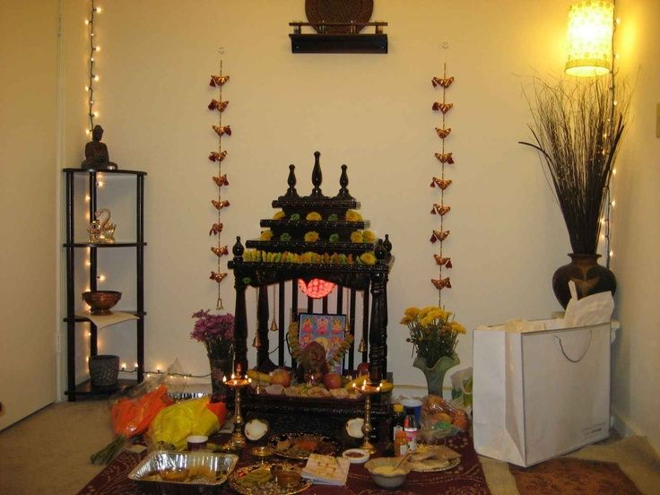 small mandir for home  Google Search  Home decor  Pooja room design Pooja rooms Wood house