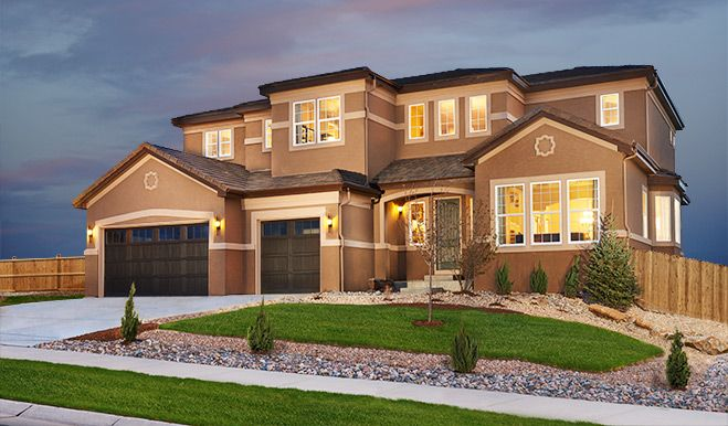 Harmon Exterior Blackstone Floor Plan Richmond American Homes Home Front Entry And White Trim