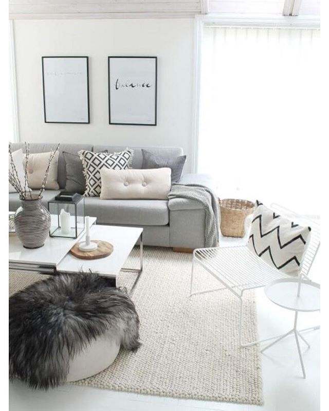 Love the balanced neutrals and complementary shades throughout this room  via Pinterest