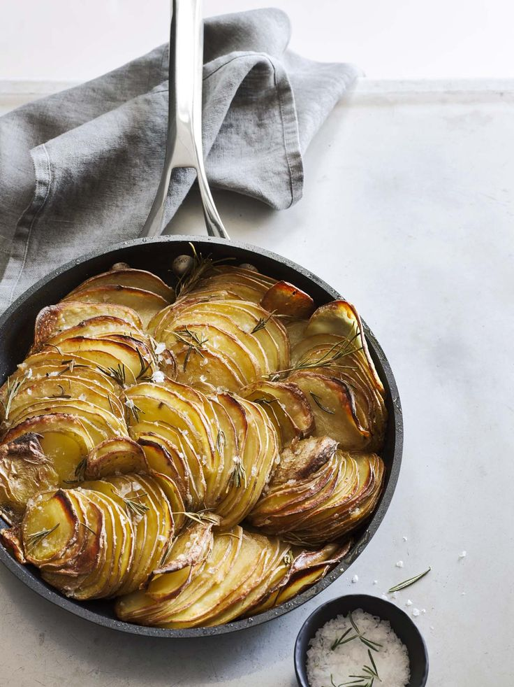 Crispy, buttery and aromatic with fresh rosemary, these potatoes are the perfect partner for the Thanksgiving turkey. Get recipe inspiration from our Thanksgiving Brochure: http://www.williams-sonoma.com/thanksgiving2015