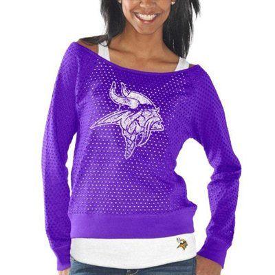 G-III 4Her Minnesota Vikings Ladies Holy Sweatshirt & Tank Set - Purple.   So cute!