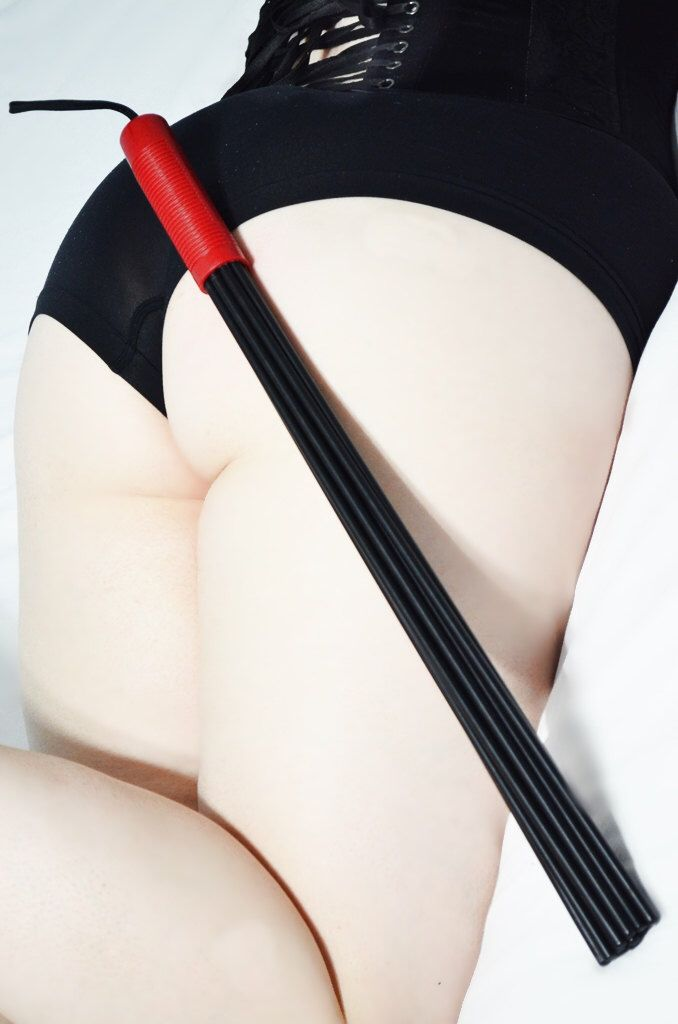 Devil's Due - Black and Red Heavy Duty Delrin Multi Cane for BDSM Play by CreativeKink on Etsy https://www.etsy.com/listing/488464305/devils-due-black-and-red-heavy-duty