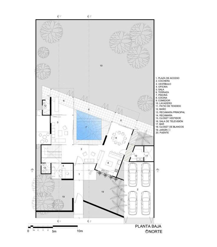 70 best villa plan images on pinterest floor plans for Architectural floor plans