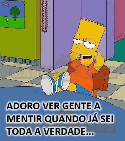 O Bart sabe como é!