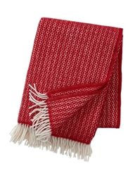 Klippan Rumba Red Eco Wool Throws now at Northlight