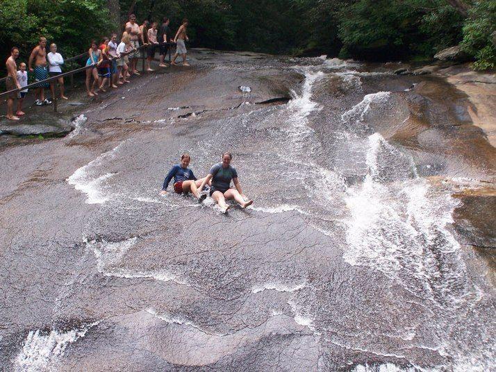 Sliding Rock in Pisgah National Forest - Asheville NC