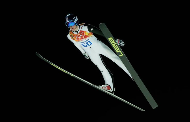DAY 8:  Peter Prevc of Slovenia competes during the Ski Jump Men's Large Hill Individual Qualification http://sports.yahoo.com/olympics