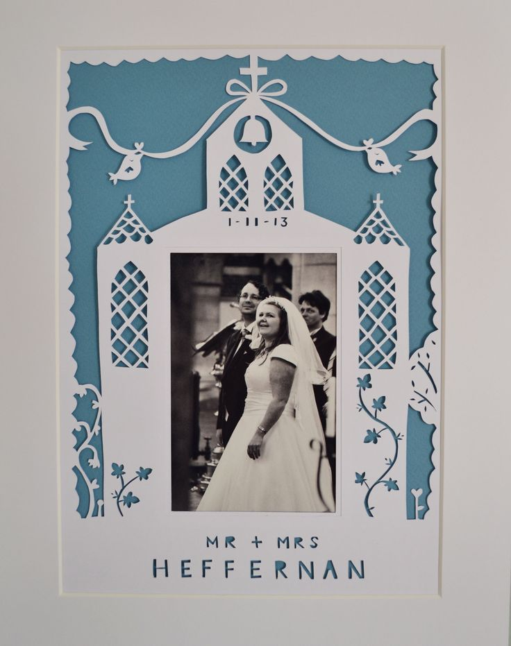 Wedding paper cut frame, just pop in your photo of the happy couple! Perfect for the 1st anniversary too - paper! https://www.facebook.com/media/set/?set=a.534925263261256.1073741832.121862514567535&type=1