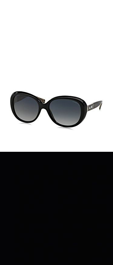 02fa939891 Coach Womens Carter Sunglasses (HC8120) Black Grey Acetate - Polarized -  57mm