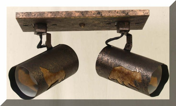 Rustic Track Lighting Collection | Rustic Lighting & Fans