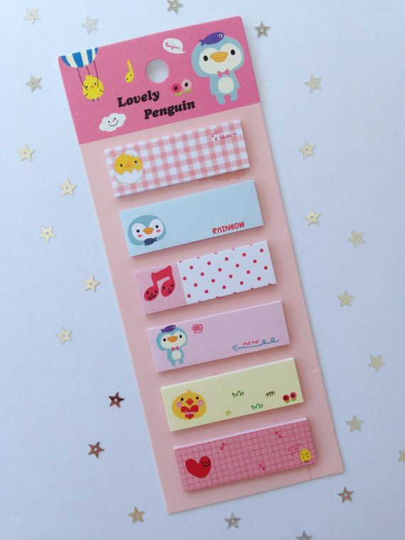 Lovely Penguin StickyNotes Post-it paper Paper 16 by BabyBootiesNL