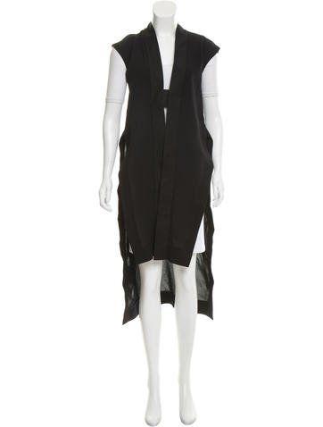 Rick Owens Silk Beach Mantle Vest w/ Tags