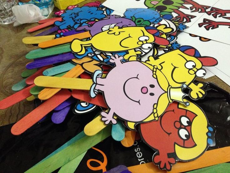 Assorted Mr Men and Little Miss fans for a hot day
