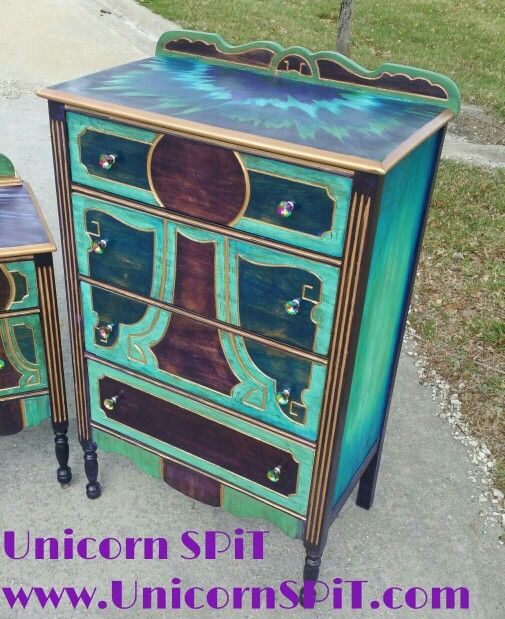 Unicorn Spit Painted Furniture Furniture Upcycled