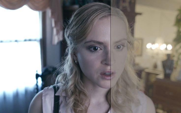 Before and after color grading of a movie Avant/après l'étalonnage (couleur) d'un film