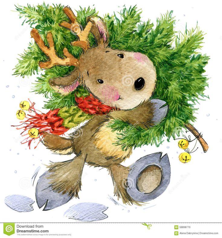 Смешные олени Санта Клаус изображение иллюстрации летания клюва декоративное своя бумажная акварель ласточки части - Скачивайте Из Более Чем 37 Миллионов Стоковых Фото, Изображений и Иллюстраций высокого качества. изображение: 58898770