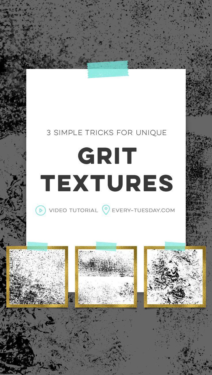 3 Simple Tricks for Unique Grit Textures | video tutorial: every-tuesday.com via @teelac