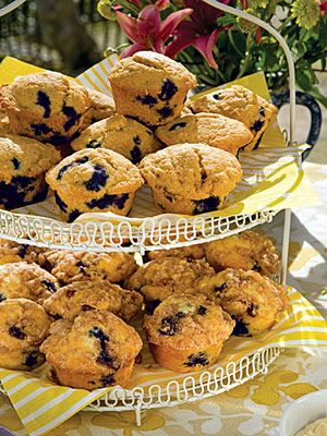 Blueberry cornmeal muffins Preheat oven to 350 degrees F. Grease and ...