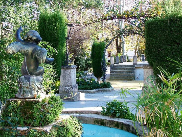 Gardens Spanish and Patio on Pinterest