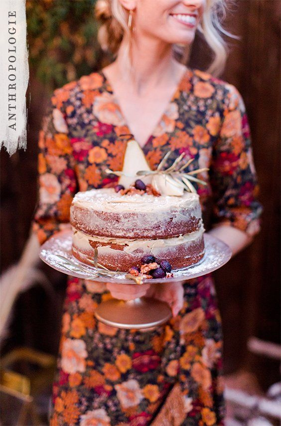 A fall party dress and a cake stand to match | Shop Anthropologie