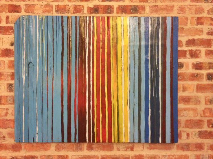 Pop stripes Acrylic on board. 1.2m x 900mm