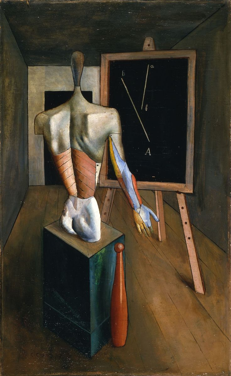Carlo Carrà (Italian, 1881–1966), Solitudine, c.1917–1926. Oil on canvas, 91.5 x 55.5 cm.