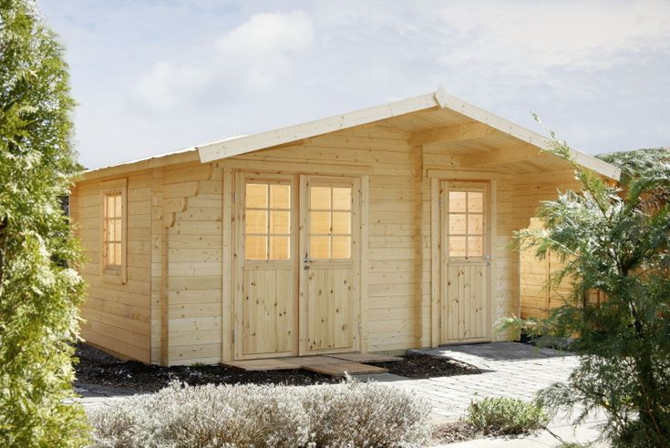 New Gartenhaus xcm Holzhaus Bausatz mm Klassik Raum Holz Gartenhaus Durch die