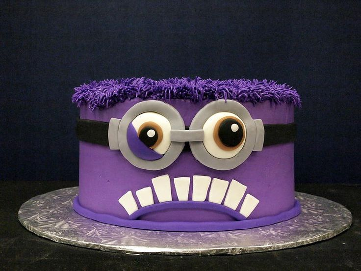 purple minion cake - Google Search | minions | Pinterest ...