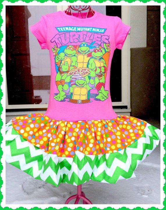 Girls Teenage Mutant Ninja Turtles Twirl By BlossomBlueBoutique 3499
