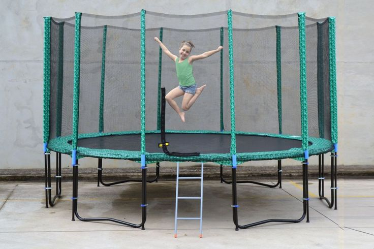 Exterior: Gorgeous 14 Ft Trampoline Spring Cover from 14 FT Trampoline In Kids Station