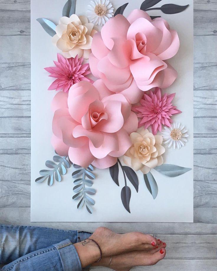 Из бумаги цветы чтобы приклеить на открытку