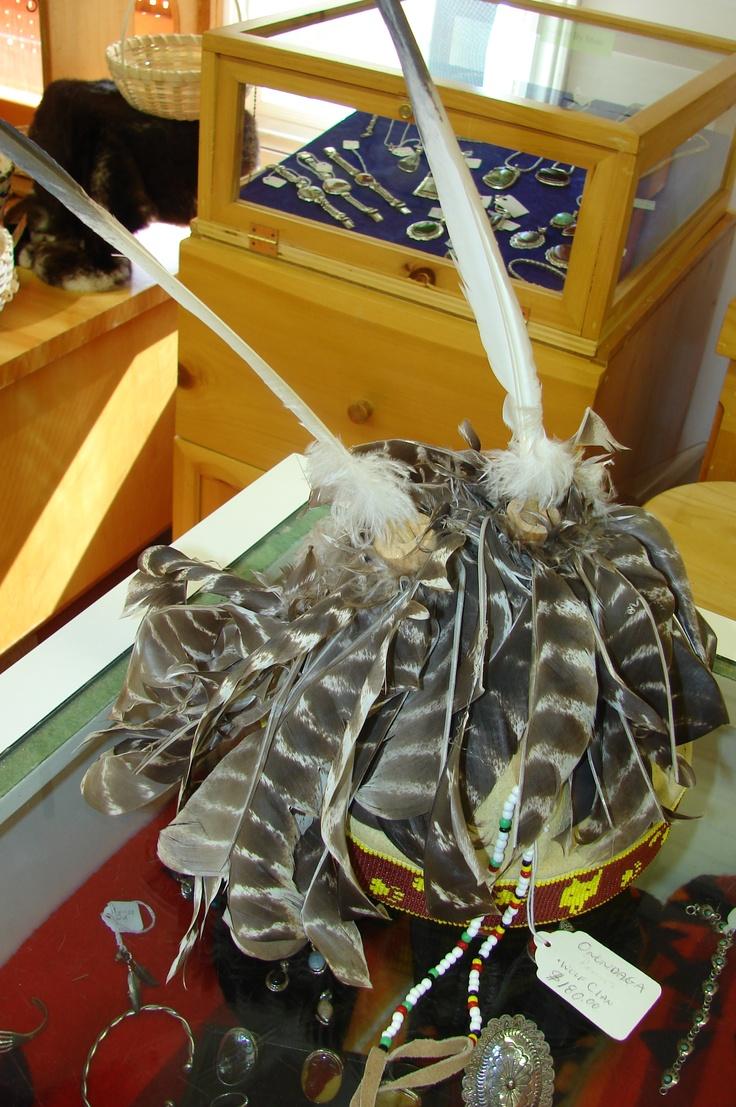 Aboriginal headdress from the Lennox Island gift shop.