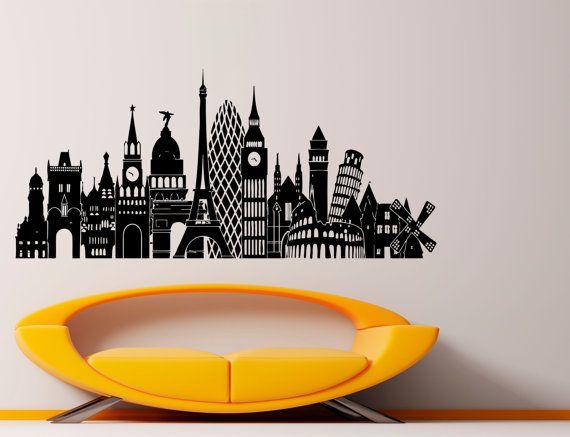 Best Skyline Images On Pinterest Vinyl Decals Sticker And - Wall vinyl stickers