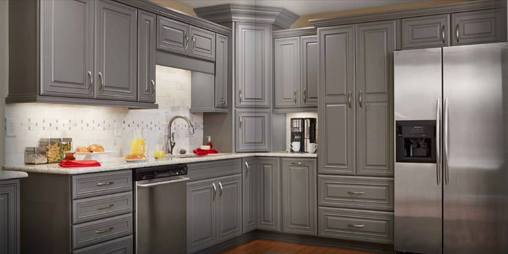 Kitchen Cabinets In Grey Stained Cabinets