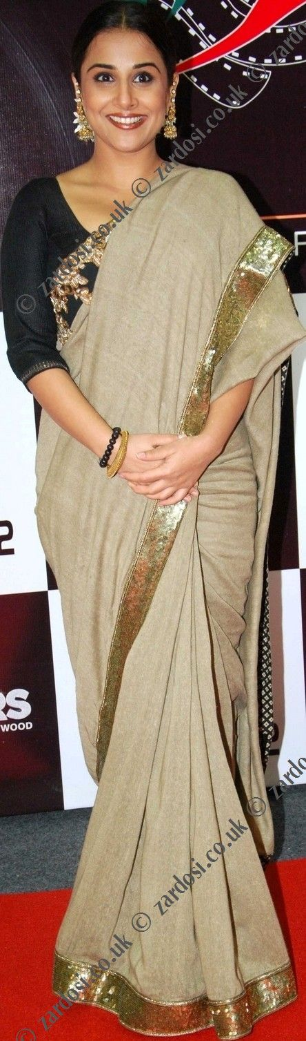Elegant, sophisticated, difficult colours to pull off without looking bland ...hats off to Ms Balan.