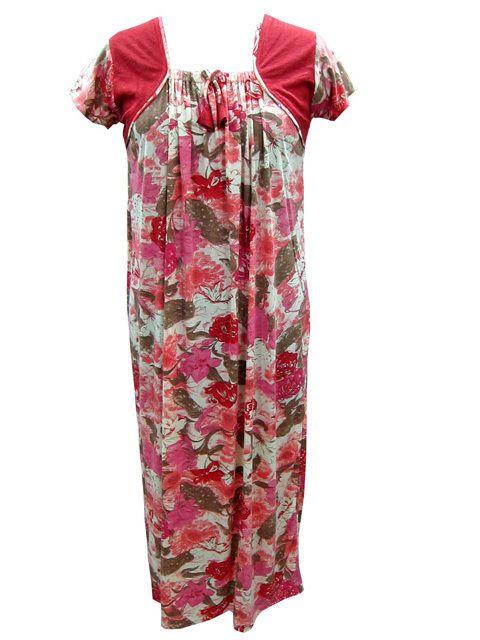 Bohemian Cotton nightgown sleepwear boho gypsy loungewear kaftan