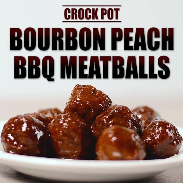 bourbon peach bbq meatballs   ChinDeep