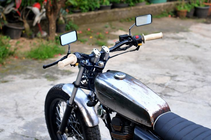 "gas tank Honda GL III / Megapro 2005  ""Silver Cash""  Custom by  "" DWellners KustomSlaughter """