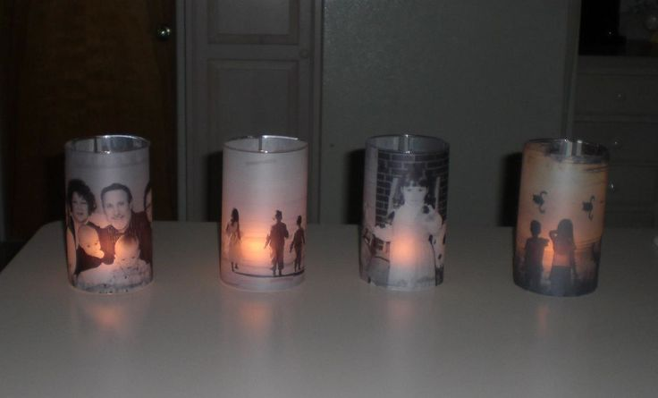 Love this idea - Make your own photo candle holders. I am going to fill with Pink Zebra Sprinkles (www.itsrainingsprinkles.com) I can't wait to try this!!