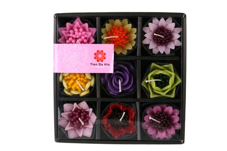 Various flower in gift box