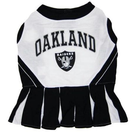 Pets First ORCLO-M Oakland Raiders NFL Dog Cheerleader Outfit - Medium 9f37875cd