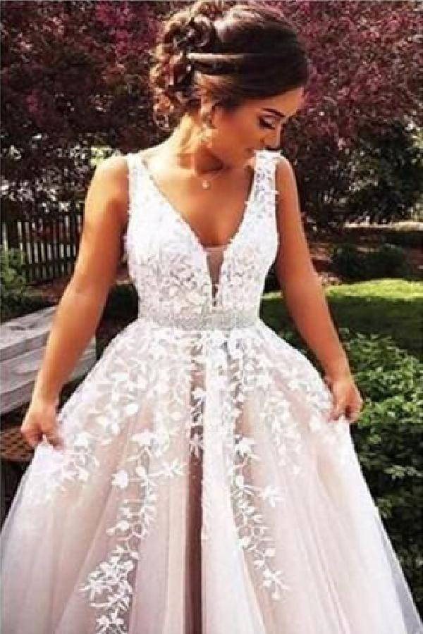 Hot Sale Fancy Long Prom Dress, Prom Dress Lace, Prom Dress A-Line