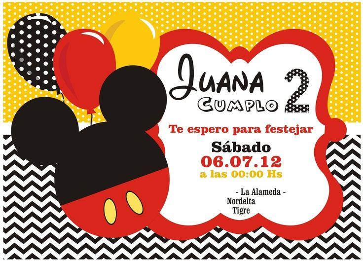 Invitaciones De Cumpleaños Mickey Mouse - Wallpaper En Hd Gratis 5  en HD Gratis