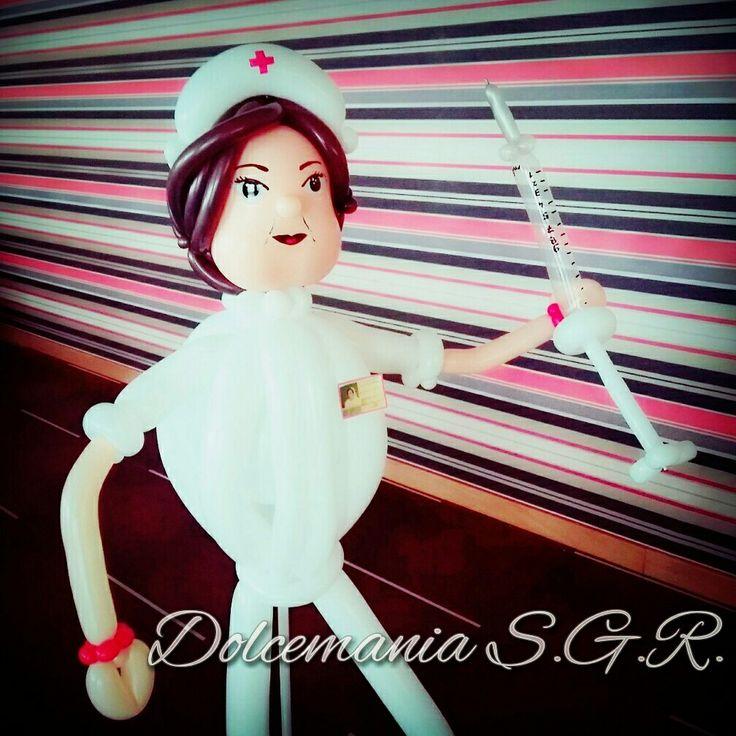 #dolcemania #palloncini #puglia #foggia #gargano #italia #italy #infermiera #nurse #balloon #balloonart #ospedale #pensione #hospital #idea #present #siringa #girl #woman